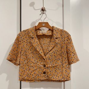 UO Floral Button Down Shirt